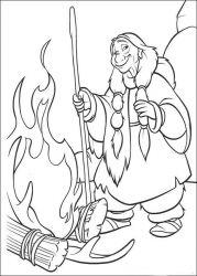plansa de colorat brother bear de colorat p34