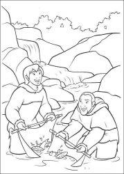plansa de colorat brother bear de colorat p35