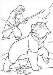 plansa de colorat brother bear de colorat p37