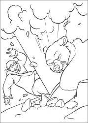 plansa de colorat brother bear de colorat p42