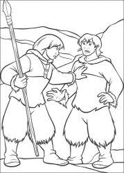 plansa de colorat brother bear de colorat p44