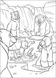 plansa de colorat brother bear de colorat p50