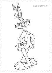 plansa de colorat bugs bunny de colorat p05