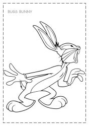 plansa de colorat bugs bunny de colorat p13