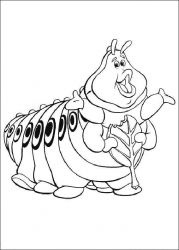 plansa de colorat bugs life de colorat p05