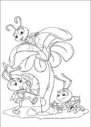 plansa de colorat bugs life de colorat p06