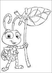 plansa de colorat bugs life de colorat p07