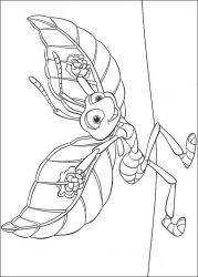 plansa de colorat bugs life de colorat p19