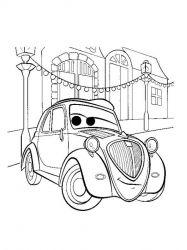 plansa de colorat cars de colorat p01