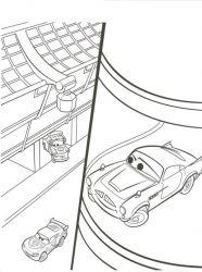 plansa de colorat cars de colorat p06