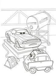 plansa de colorat cars de colorat p09