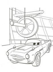 plansa de colorat cars de colorat p12