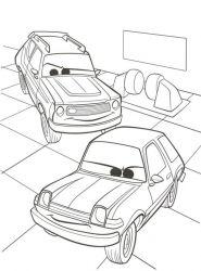 plansa de colorat cars de colorat p20