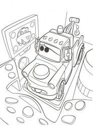 plansa de colorat cars de colorat p25