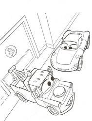 plansa de colorat cars de colorat p38