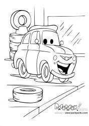 plansa de colorat cars de colorat p69