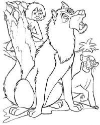 plansa de colorat cartea junglei de colorat p19