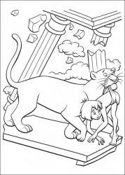plansa de colorat cartea junglei de colorat p28