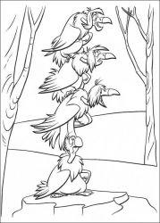 plansa de colorat cartea junglei de colorat p34