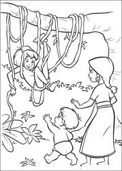 plansa de colorat cartea junglei de colorat p37