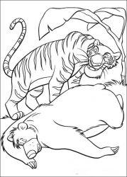 plansa de colorat cartea junglei de colorat p46
