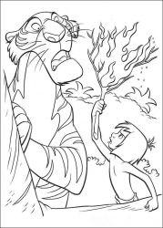 plansa de colorat cartea junglei de colorat p47