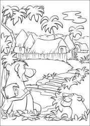 plansa de colorat cartea junglei de colorat p51