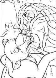 plansa de colorat cartea junglei de colorat p54