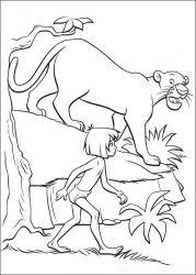 plansa de colorat cartea junglei de colorat p64