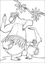 plansa de colorat cartea junglei de colorat p65