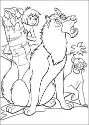 plansa de colorat cartea junglei de colorat p70