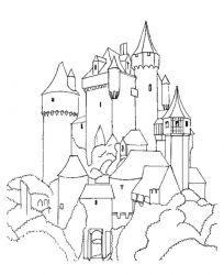 plansa de colorat castele de colorat p14