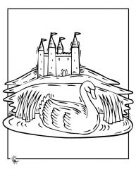 plansa de colorat castele de colorat p17