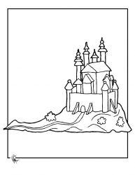 plansa de colorat castele de colorat p18
