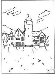 plansa de colorat castele de colorat p25