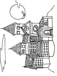 plansa de colorat castele de colorat p26