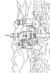 plansa de colorat castele de colorat p27