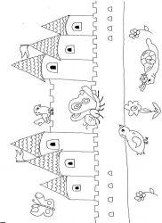 plansa de colorat castele de colorat p30