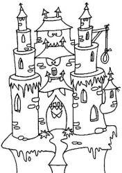 plansa de colorat castele de colorat p38