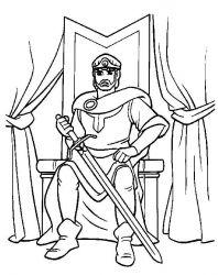 plansa de colorat cavaleri de colorat p01