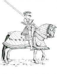 plansa de colorat cavaleri de colorat p02