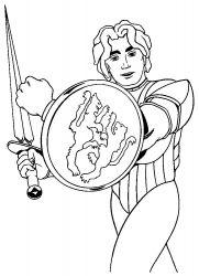 plansa de colorat cavaleri de colorat p04