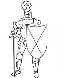 plansa de colorat cavaleri de colorat p05