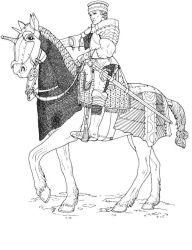 plansa de colorat cavaleri de colorat p06