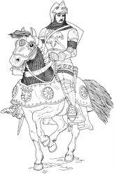 plansa de colorat cavaleri de colorat p07
