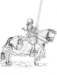 plansa de colorat cavaleri de colorat p08