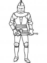 plansa de colorat cavaleri de colorat p10