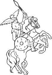 plansa de colorat cavaleri de colorat p13