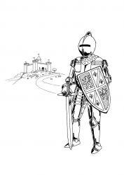 plansa de colorat cavaleri de colorat p14