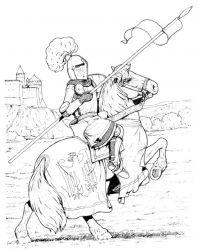 plansa de colorat cavaleri de colorat p15